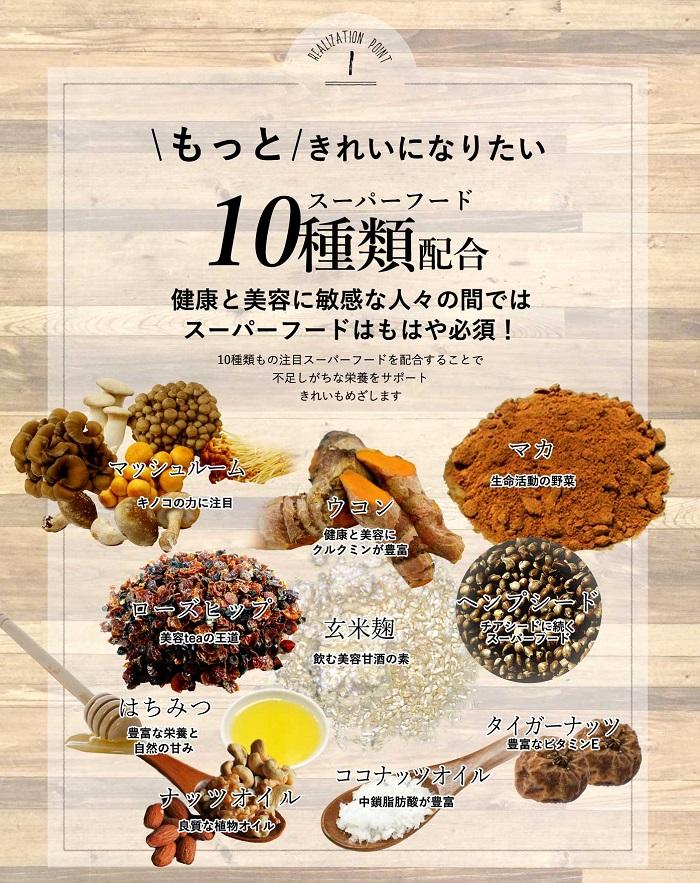 チャコッタ 10種類のスーパーフード